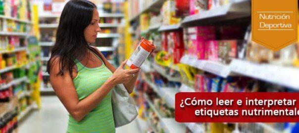 leer e interpretar las etiquetas nutrimentales
