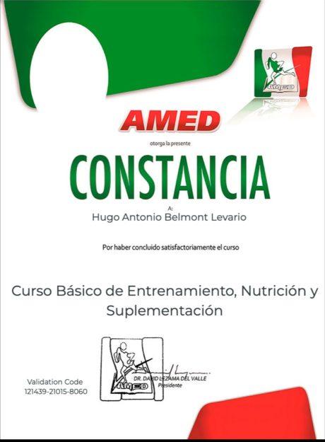 Certificado para usuarios Hugo Antonio Belmont Levario